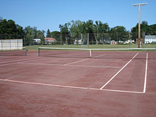 Beacon Field, Greenfield, one of the courts where Greenfield Rec Tennis league matches are played.